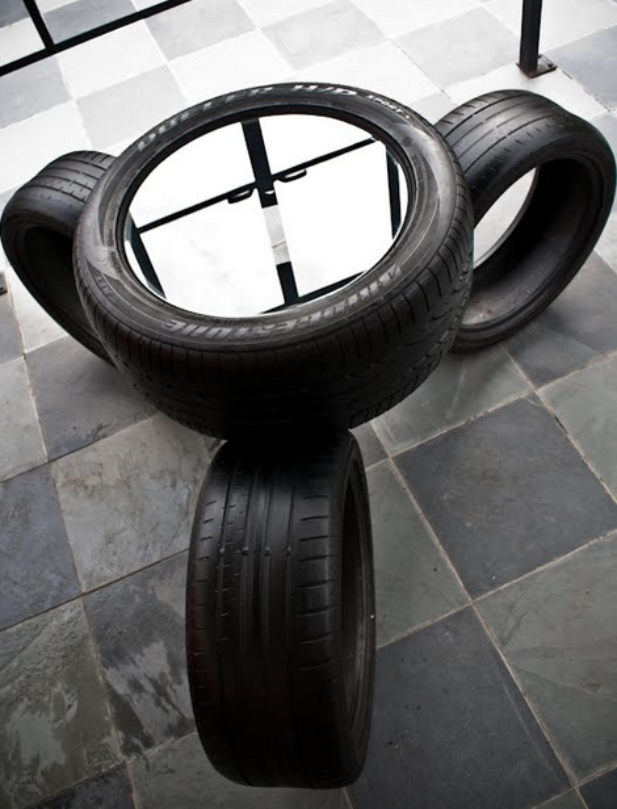Recycled tires four fascinating uses for scrap tires for Scrap tractor tires